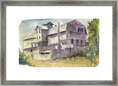The Old Grain And Feed Store Framed Print