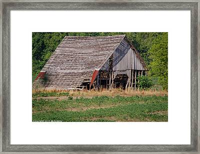 Framed Print featuring the photograph The Old Gray Barn by Nick Kirby