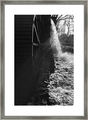 The Old Grist Mill - Black And White Framed Print