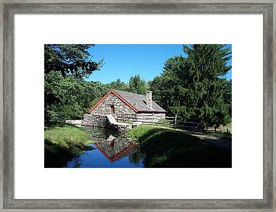 The Old Grist Mill Framed Print by Georgia Hamlin