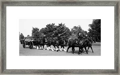 The Old Guard Caisson  Framed Print