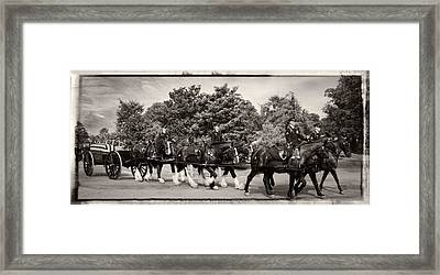 The Old Guard Caisson With Border Framed Print