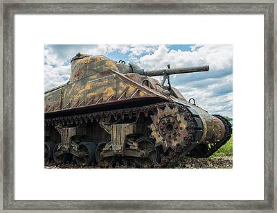 The Old Guardian-sherman Tank Framed Print