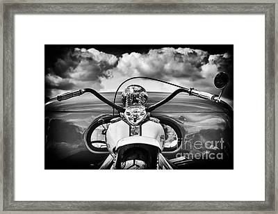 The Old Harley Monochrome Framed Print by Tim Gainey