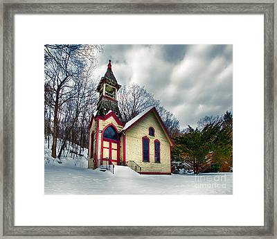 The Old Hewitt Methodist Church Framed Print by Mark Miller