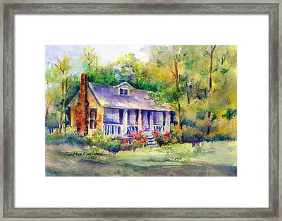 The Old Homestead Framed Print by Cynthia Roudebush