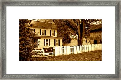The Old Homestead Framed Print