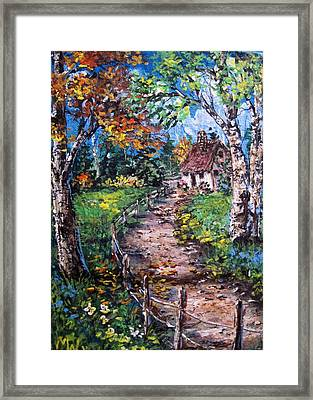 Framed Print featuring the painting The Old Homestead by Megan Walsh