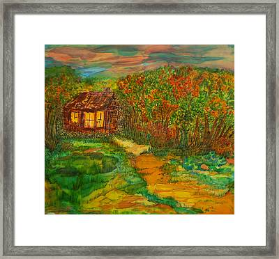 Framed Print featuring the painting The Old Homestead by Susan D Moody