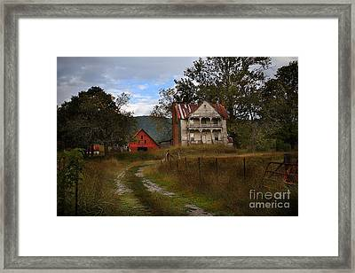 The Old Homestead Framed Print by T Lowry Wilson