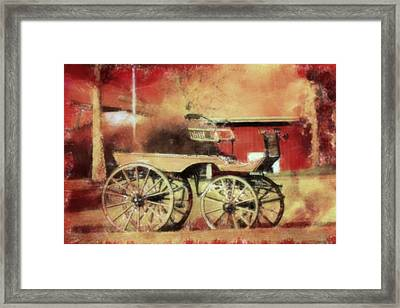 The Old Horse Cart Framed Print by Tommytechno Sweden