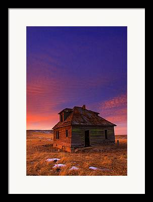 Old Farm Houses Framed Prints