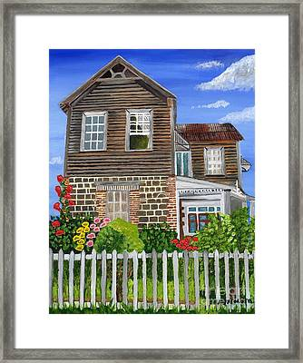 Framed Print featuring the painting The Old House by Laura Forde