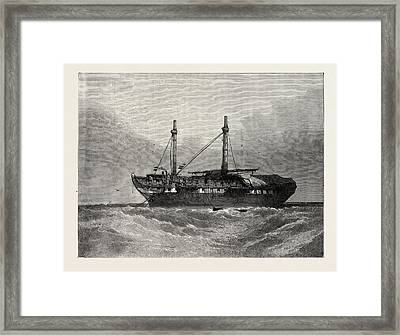 The Old Hulk, From The Old Painting By T Framed Print by English School