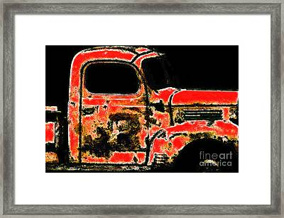 The Old Jalopy 7d22382 Framed Print by Wingsdomain Art and Photography