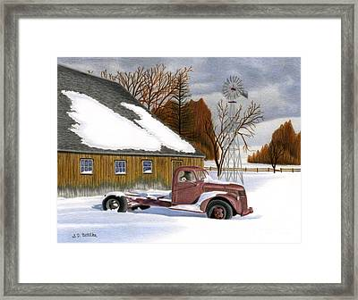 The Old Jalopy Framed Print by Sarah Batalka