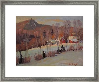 Framed Print featuring the painting The Old Kordana Farm by Len Stomski