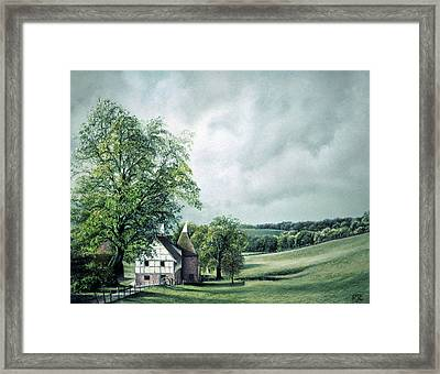 Framed Print featuring the painting The Old Lime Tree by Rosemary Colyer