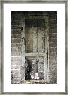The Old Lowman Door Framed Print by Brian Wallace