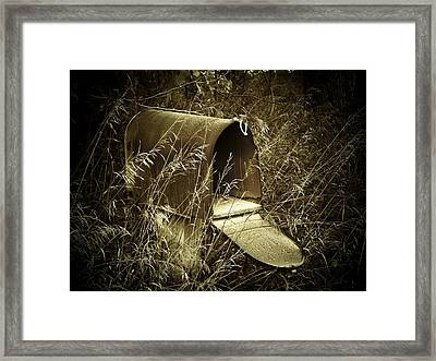 The Old Mailbox Framed Print by Joyce Kimble Smith