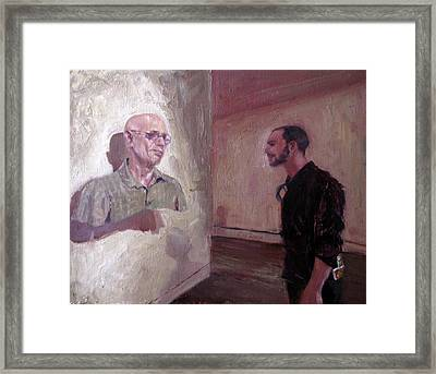 The Old Man And Me Framed Print