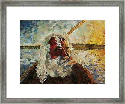 The Old Man And The Sea Framed Print by Claire Muller
