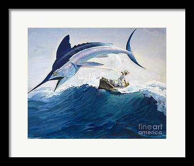 Angling Framed Prints