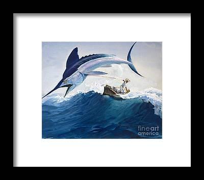 Swordfish Framed Prints