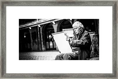 Framed Print featuring the photograph The Old Man Painter II by Stwayne Keubrick