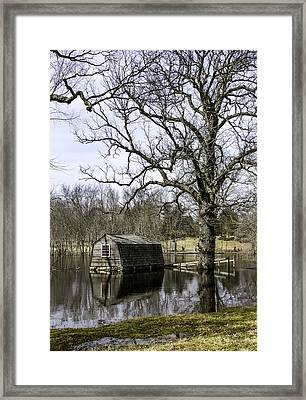 The Old Manse Boathouse Framed Print by Betty Denise