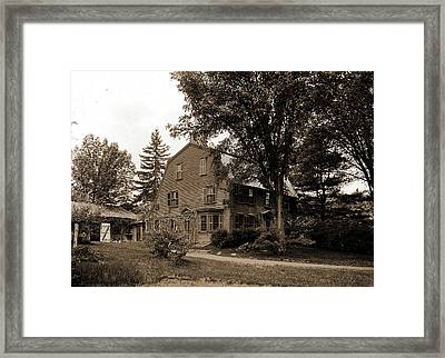 The Old Manse, Concord, Massachusetts, Hawthorne Framed Print