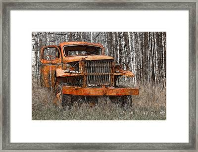 The Old Military Truck Framed Print