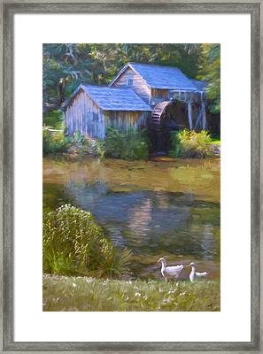 The Old Mill At Mabry Framed Print by Jean-Pierre Ducondi