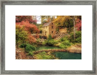 The Old Mill In Autumn - Arkansas - North Little Rock Framed Print