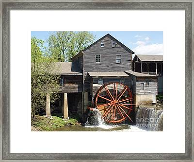The Old Mill In Pigeon Forge Framed Print by Roger Potts