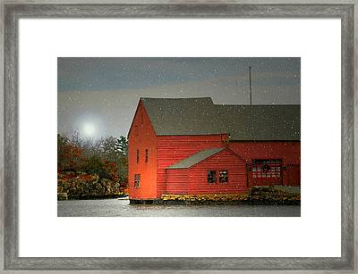 The Old Mill Kirby Pond Framed Print by Diana Angstadt