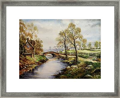 The Old Mill Path Framed Print by Andrew Read