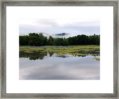 The Old Mill Pond Framed Print by Jeri lyn Chevalier
