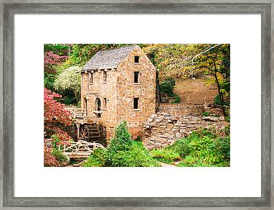 The Old Mill - Pugh's Mill In Little Rock Arkansas Framed Print