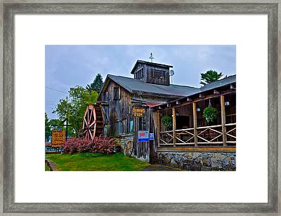 The Old Mill Restaurant - Old Forge New York Framed Print by David Patterson