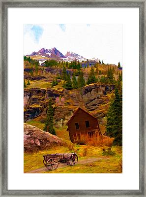 The Old Miners House Framed Print