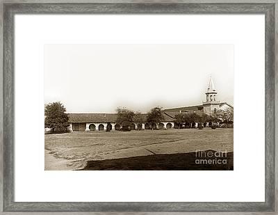 The Old Mission San Juan Bautista Circa 1907 Framed Print