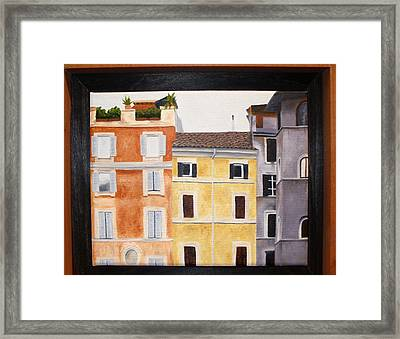 The Old Neighborhood Framed Print by Karin Thue