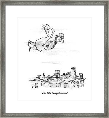 The Old Neighborhood Framed Print by William Steig