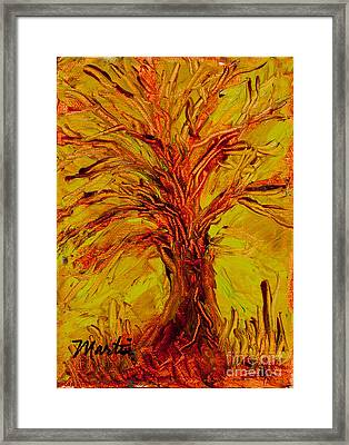 The Old Oak Tree II Framed Print by Larry Martin