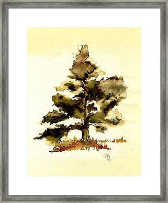 The Old Oak Tree Framed Print