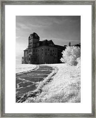 The Old Odd Fellows Home Bw Framed Print by Luke Moore