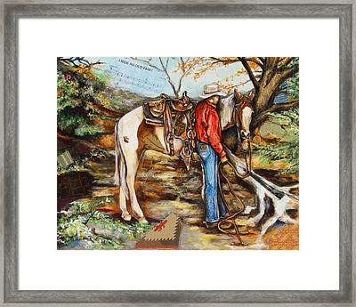 The Old Paint Framed Print