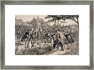 The Old Physic Garden Of The Society Of Apothecaries At Chelsea Framed Print by Thomas W Lascelles