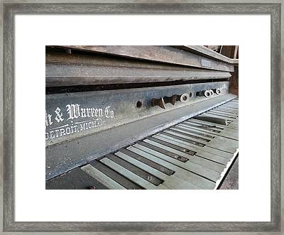 Framed Print featuring the photograph The Old Piano by Keith Hawley